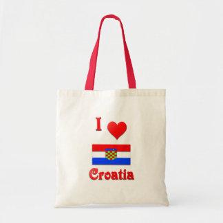 I Love Croatia Bags