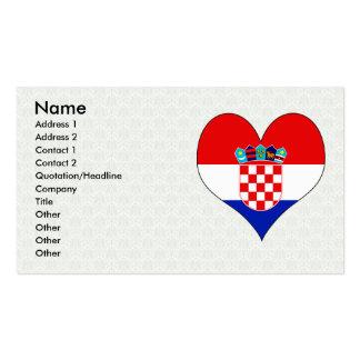 I Love Croatia Business Card Template