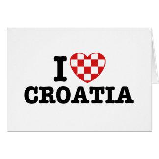 I Love Croatia Greeting Card