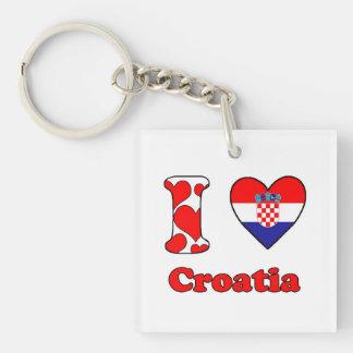 I love Croatia Keychain