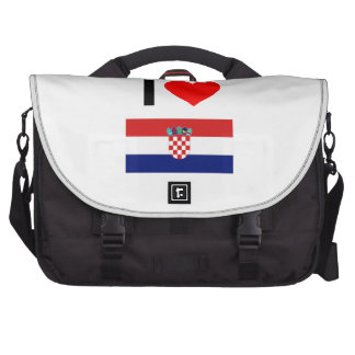 i love croatia computer bag