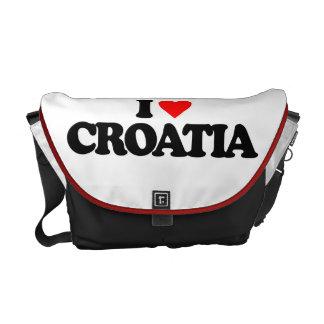 I LOVE CROATIA MESSENGER BAGS