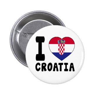 I Love Croatia Pin