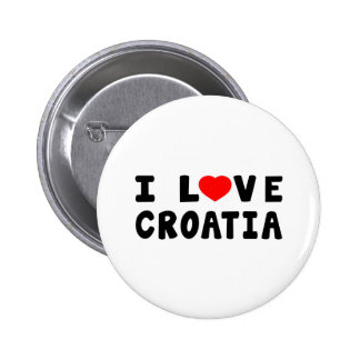I Love Croatia Pinback Buttons