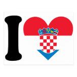 I Love Croatia Postcards