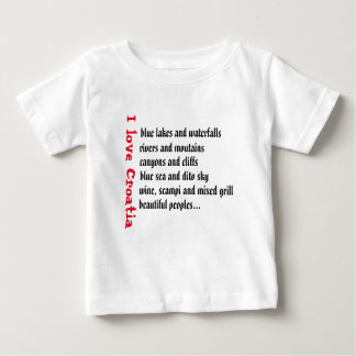 I love Croatia, reasons…. Baby T-Shirt