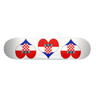 I Love Croatia Skate Boards