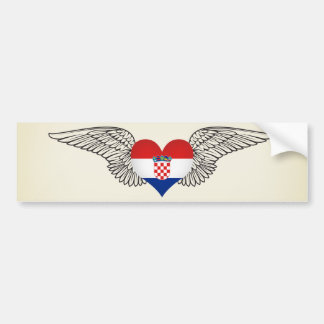 I Love Croatia -wings Bumper Sticker
