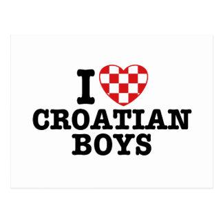 I Love Croatian Boys Postcard