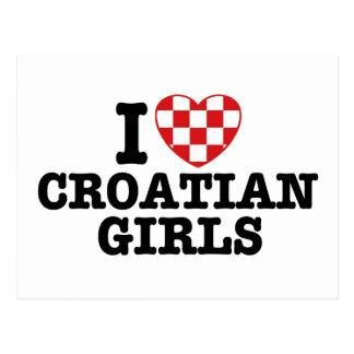 I Love Croatian Girls Postcard