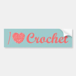 I Love Crochet Bumper Sticker