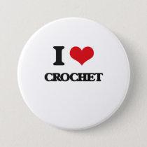 I Love Crochet Button