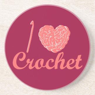 I Love Crochet Coaster