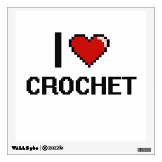 I Love Crochet Digital Retro Design Wall Decals