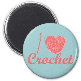 I Love Crochet Magnet