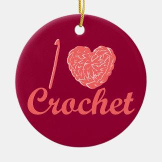 I Love Crochet Ornament