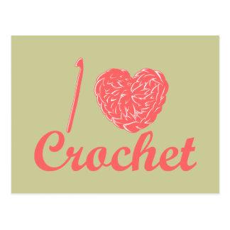 I Love Crochet Postcard