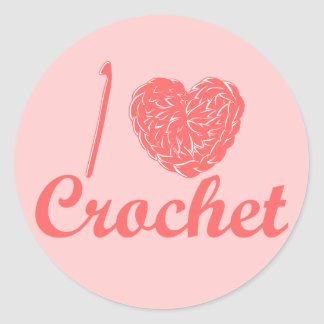 I Love Crochet Sticker