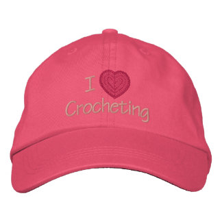 I Love Crocheting Embroidered Baseball Cap
