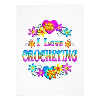 I Love Crocheting Custom Invitations