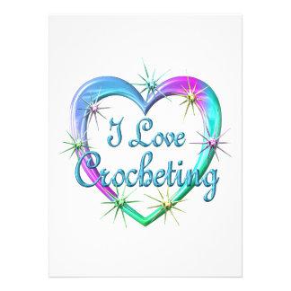 I Love Crocheting Personalized Invites