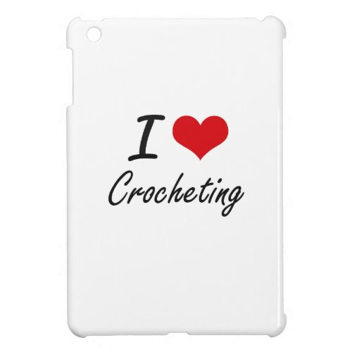 I love Crocheting iPad Mini Cases