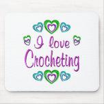 I Love Crocheting Mouse Pad