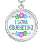 I LOVE CROCHETING PERSONALIZED NECKLACE