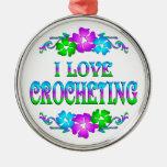 I LOVE CROCHETING ORNAMENT
