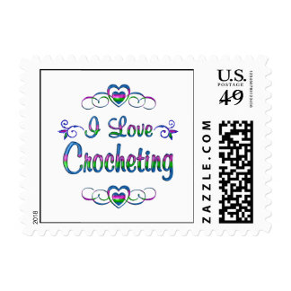 I Love Crocheting Postage
