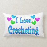I Love Crocheting Throw Pillows