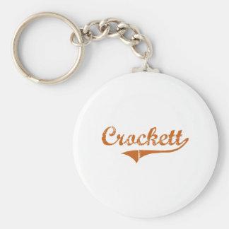 I Love Crockett Texas Keychain