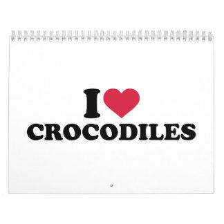 I love crocodiles calendar