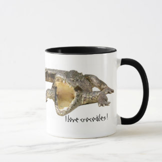 I love crocodiles ! mug