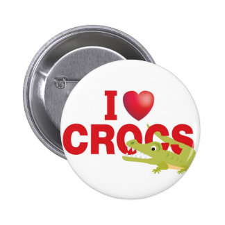 i love crocs button