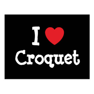 I love Croquet heart custom personalized Postcard