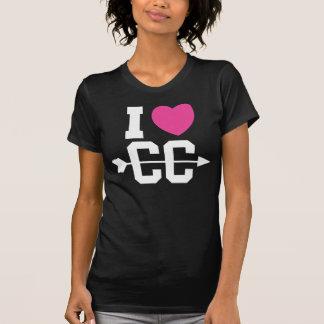 I Love Cross Country Dark Women's T-shirt