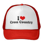 I Love Cross Country Hat