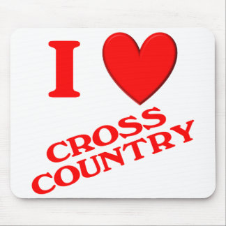 I Love Cross Country Mouse Pad