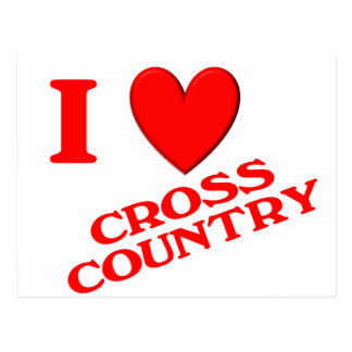 I Love Cross Country Postcard