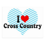 I Love Cross Country Postcards