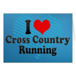 I love Cross Country Running Greeting Card