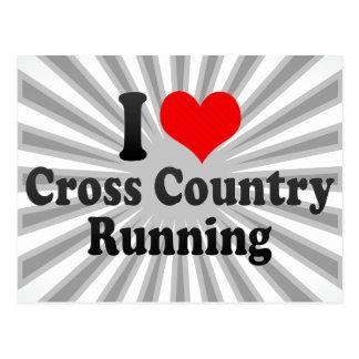 I love Cross Country Running Postcard
