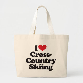 I Love Cross Country Skiing Canvas Bags
