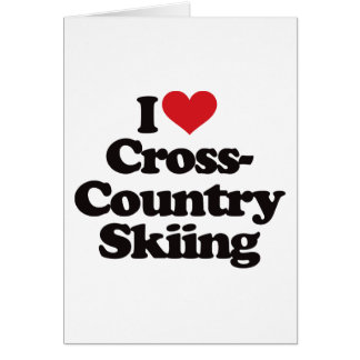 I Love Cross Country Skiing Greeting Cards