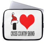 I Love Cross Country Skiing Design Laptop Computer Sleeves