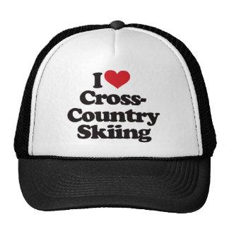 I Love Cross Country Skiing Mesh Hat