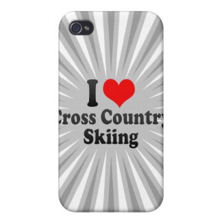 I love Cross Country Skiing iPhone 4 Cover