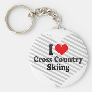 I love Cross Country Skiing Key Chains