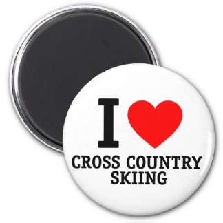 I Love Cross Country Skiing Magnets